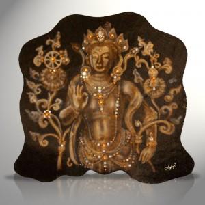 Tapestry Golden Buddah