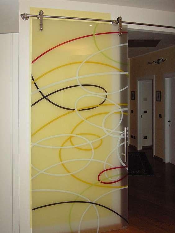 Porte automatiche in vetro arco trento santoni vetrisantoni vetri un nuovo sito targato - Vetri decorati porte interne ...